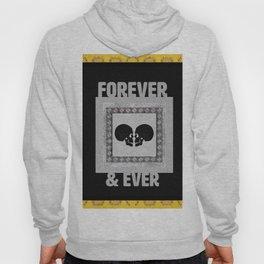 In Love Skulls Gold, Black & Silver Hoody