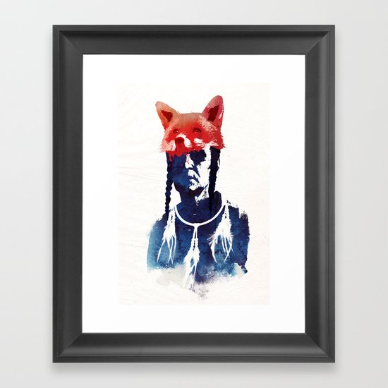 Bloody days are coming Framed Art Print