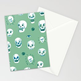 Pattern of Skulls Stationery Cards