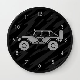 Off Road 4x4 Silhouette Wall Clock