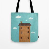 plane Tote Bags featuring Plane by Oksana Tarasova