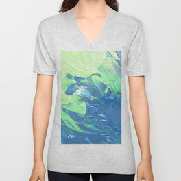 Blue & Green, No. 3 Unisex V-Neck