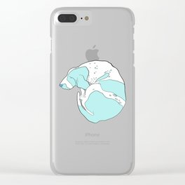 Blue Basset Hound Clear iPhone Case