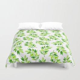 Watercolor Greenery Duvet Cover