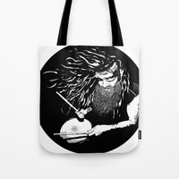 lee pace Tote Bags featuring ·Mr. pace by Gonzo
