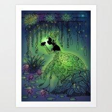 Silhouette Tiana Art Print