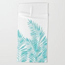 Palm Leaves Island Paradise Beach Towel
