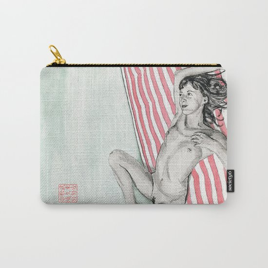 Girl on a Bed Carry-All Pouch