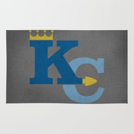 Kansas City Sports Double Blue Rug