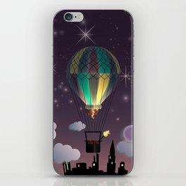 Balloon Aeronautics Night iPhone Skin