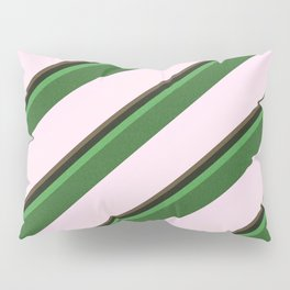 Pink Roses in Anzures 2 Stripes 5D Pillow Sham