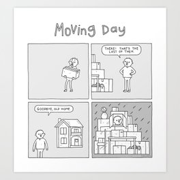 Moving Day! Art Print
