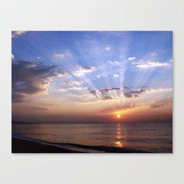 Badalona beach Canvas Print