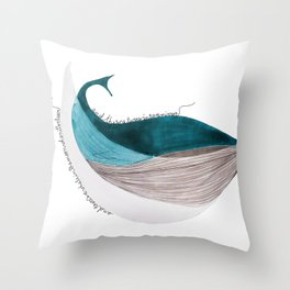 there´s a whale  Throw Pillow