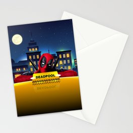 Dead Pool Taxi Night Stationery Cards