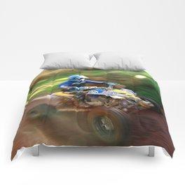ATV offroad racing Comforters