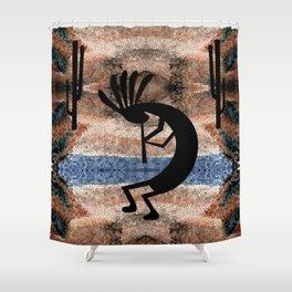 Kokopelli Southwest Desert Shower Curtain