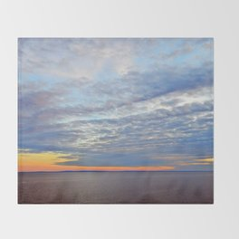 Northumberland Strait at Dusk Throw Blanket