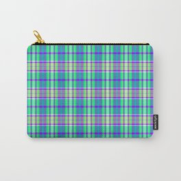 Grape Pool Water Plaid Carry-All Pouch