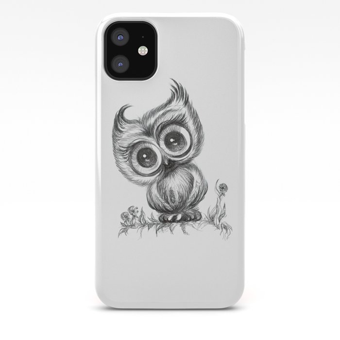 Baby Owl Wall Art Nursery Decor Bird Illustration Animals Iphone Case By Noramanapova