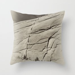 Yosemite Half Dome Hikers Throw Pillow