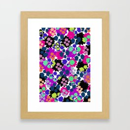 Overlayed blooms Framed Art Print