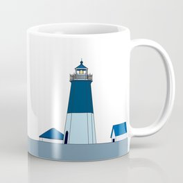 Lighthouse Illustration Beach Decor Ocean Blue Coffee Mug
