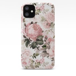 Vintage & Shabby Chic - Sepia Pink Roses  iPhone Case