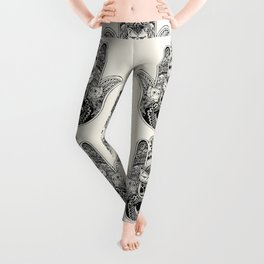 Hamsa Hand Persian Cat Leggings