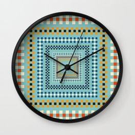 Embroidery Romanian Motifs Rombs Flower Wall Clock