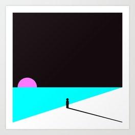Sungazer at dusk Art Print