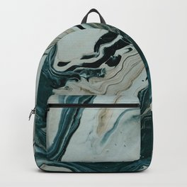 Tranquil Arctic Painting Marble Backpack