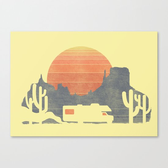 Trail of the dusty road Canvas Print