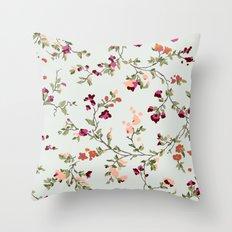 floral vines - neutrals Throw Pillow