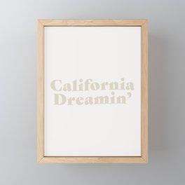 California Dreaming - Light Framed Mini Art Print