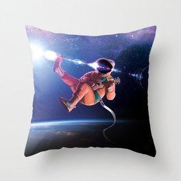 Space Uke  Throw Pillow