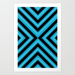 series 1 Blue Art Print