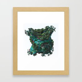 Abstract Fractals Number 33. Framed Art Print