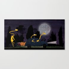Voyage by night II (animal party) Canvas Print