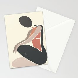 Woman Form I Stationery Cards