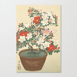 Vintage Azalea Japanese Woodcut Canvas Print