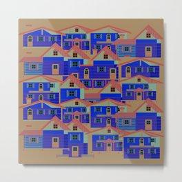 Houses pattern6 Metal Print