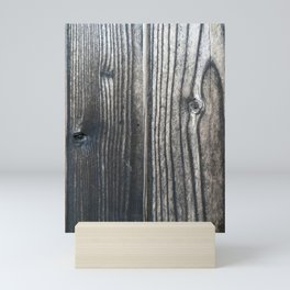 Weathered Rustic Wood Grain Mini Art Print