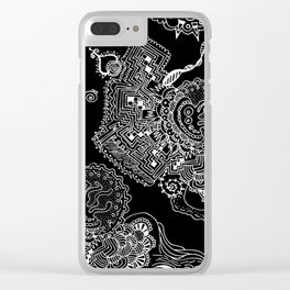 Space Doodles Clear iPhone Case