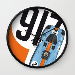 917 Rodriguez-Kinnunen Orange Wall Clock