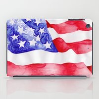 american flag iPad Cases featuring American Flag by Bridget Davidson