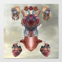 kaiju Canvas Prints featuring Kaiju by DIVIDUS