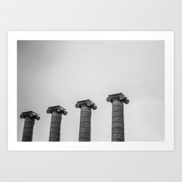 The Four Columns Art Print