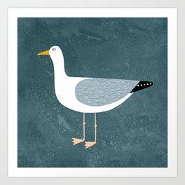 Seagull Standing Art Print