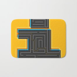 I for Itinerary Bath Mat